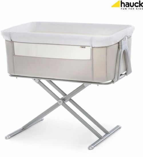 Hauck Face To Me Bedside Baby Crib Travel Bassinet Cradle Cot Moses Basket Beige